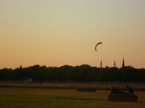 Tempelhof by sunset